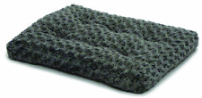 Plush Pet Bed | Ombré Swirl Dog Bed & Cat Bed | Gray 21L x 12W x 1.5H - Inches