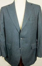 Vintage Beecroft & Bull Gray Stripe 3Season Flannel Wool Suit 40R Flat Front 36W