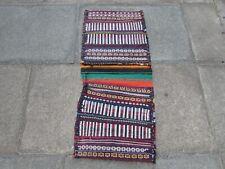 Vintage HandMade Traditional Oriental Cotton White Brown Kilim saddle Bag 110x50