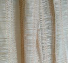 "Vintage Curtains Drapes Pinch Pleat Woven Beige 2 Lined Panels 76""X83"""
