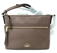 Kate Spade PXRU7922 Jackson St. Gabriele Brownstone Crossbody Handbag - New!