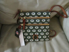 NEW Women's Dooney & Bourke NFL Green Bay Packers zipper shoulder Purse