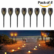 96 LED Solar Path Torch Light Flickering Flames Outdoor Landscape Lamps Dancing