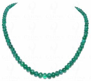 Emerald Gemstone Round Cabochon Bead Strand NP1084