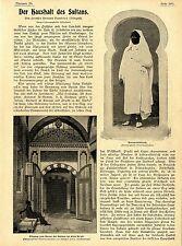 Der Haushalt (Harem) des Sultan Abdul Hamid Original-Foto-Reportage von 1900