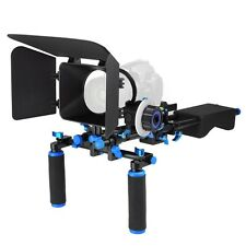 Shoulder Mount Support Rig Kit Camera Camcorder DSLR Follow Focus Matte Box