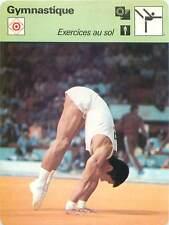 FICHE CARD: JO 1976 Shun Fujimoto  Japan Exercices Sol Floor Gymnastics 1970s