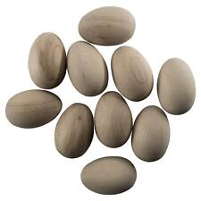Real Size Natural Beech Wooden Fake Eggs Early Learning Toy Crafts Decoration