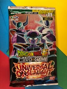 Dragon Ball Super  ==> Universal Onslaught < Sealed 12-Card Booster Pack X1