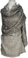 Pashmina Schal, Grau scarf Grey Wolle Modal wool scarf  ècharpe foulard 70x190