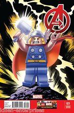 Avengers #21 Castellani Lego Variante Bd Livre 2014 - Marvel