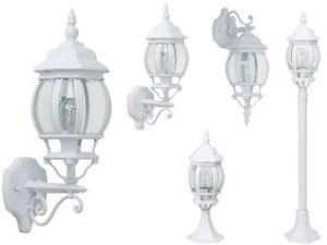 Außen Leuchte Bewegungsmelder Garten Stand Sockel Wand Lampe Beleuchtung weiß