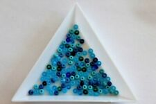 Royal Blue Preciosa Seed Bead Mix. Size 8 3mm. 9 grams approx. #8676