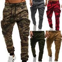 Men Sport Camo Cargo Shorts Military Combat Work Pants Sweatpants Sports Joggers