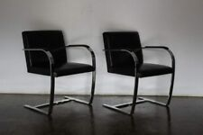 "Superb Knoll Studio ""Brno Flat Bar"" Lounge Chair Armchair in Black Leather – ..."