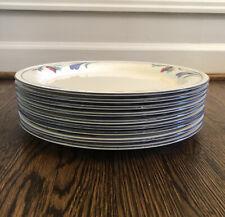 "New Listing8 - Lenox Poppies On Blue Dinner Plates 11"" Retired Euc Chinastone"
