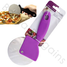 NEW STAINLESS STEEL JUMBO LARGE PIZZA CUTTER PROFESSIONAL 9.6CM WHEEL SLICER