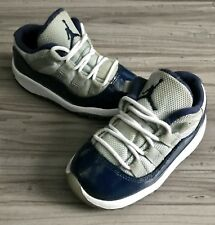 "Nike Air Jordan 11 Xi Retro Low ""Georgetown"" Gray/Blu (Td) Size 7C (505836 007)"