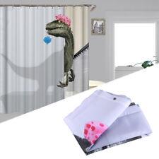 Funny Dinosaur Shower Curtain Waterproof Polyester Bathroom Decor with 12 Hooks