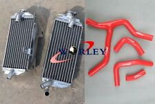 L&R Aluminum Radiator + Red Hose For Honda CRF450R CRF450 R 2013 2014 13 14