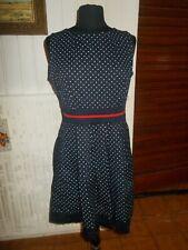 Robe coton bleu à pois XXL 42/44 sans manche PRONTO MODA Made in Italie