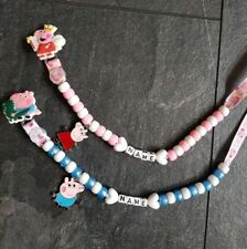 FAB  **GIRL OR BOY PIG** PERSONALISED DUMMY CLIP, SO CUTE! *FREE MAM RING* LOOK!