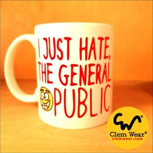 Alan Partridge mug I JUST HATE THE GENERAL PUBLIC Cup Coaster Coffee Gift comedy