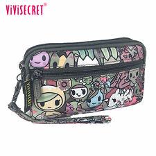 Women Cute Cartoon Clutch Wallet Handbag Coin Change Purse Pencil Tote Bag Girl
