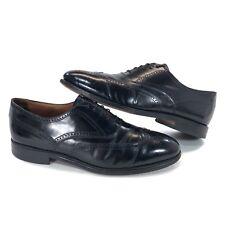 Bostonian Classics Mens Size 10.5 C/A Black Leather Brogue Wingtip Oxford Shoes