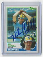 1983 BREWERS Mike Caldwell signed card Topps #142 AUTO Autographed Milwaukee
