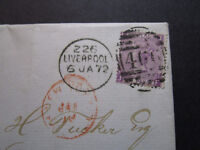 Great Britain SG# 109 Plate 9 On Letter Cover to USA (Maine) / SS Java - Z7521