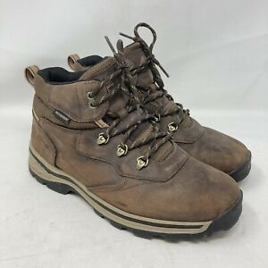 Timberland Waterproof Brown Leather Lace Up Hiking Boots 66961 Boys US Size 7M
