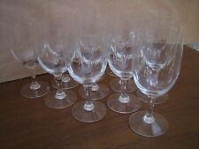 13 verres à eau ou vin taillés meule Epoque 1930