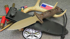 TREEMAN COMBAT DAGGER KNIFE WITH TREEMAN LEATHER SHOP SHEATH *JUST AWESOME*