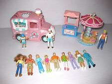Fisher Price SWEET STREETS Figures & Accessories Lot ICE CREAM TRUCK & CAROUSEL