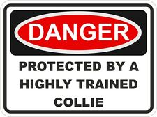 Dog Breed COLLIE Danger Sticker Pet for Bumper Locker Car Door Locker