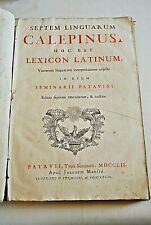 CALEPINUS SEPTEM LINGURARUM