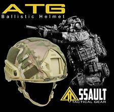 High Cut Multicam LVL IIIA Ballistic KEVLAR Helmet- Assault Tactical MICH M/LG