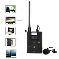 Portable LCD 3.5MM Input Wireless FM Transmitter Stereo Radio Broadcast Adapter