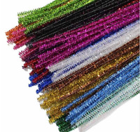 100pcs mixed colours Chenille Sticks / Pipe Cleaners - Tinsel - Assorted Colours