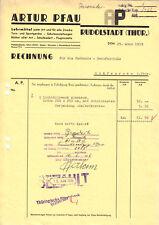 Rechnung, Arthur Pfau, Lehrmittel, Rudolstadt Thür., 25.03.1939