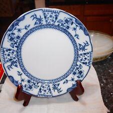 "Ridgways LITCHFIELD Royal Semi Porcelain 9 5/8"" Plate, Aesthetic, Blue, c. 1888"