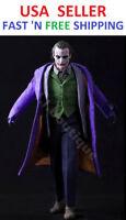 Custom 1/6 Scale Joker 2.0 Full Suit Set for Hot Toys 12'' Narrow Shoulder Body
