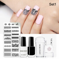 5 Pcs / Set Nail Art Stamping Plates Nail Polish Kit Stencils Templates