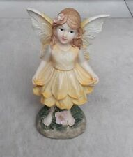 Rustic Large Yellow Fairy for Fairy Elf Gnome Garden Enchanted Corner NewWithTag