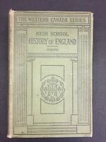 High School History Of England Western Canada Series *Rare*Combine Shipping B912
