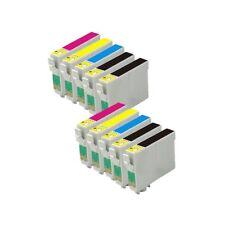 10 Cartuchos Tinta Compatible SX515W SX-515 T0891 T0892 T0893 T0894 T0711