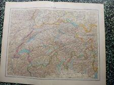 Carte géographique couleur de 1908: SUISSE