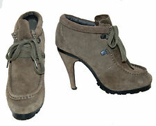 Sportsgirl Khahi Coloured Genuine Suede (Leather) Lace-Up Boots For Women Size 8