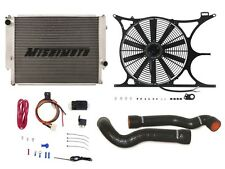 MISHIMOTO BMW E30/E36 Radiator+Shroud+Fan+Hose+PROBE FAN CONTROLLER KIT BLACK